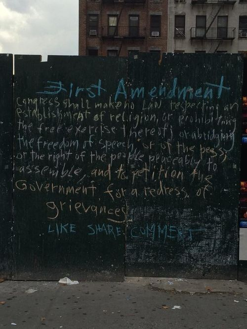 Chalk First Amendment