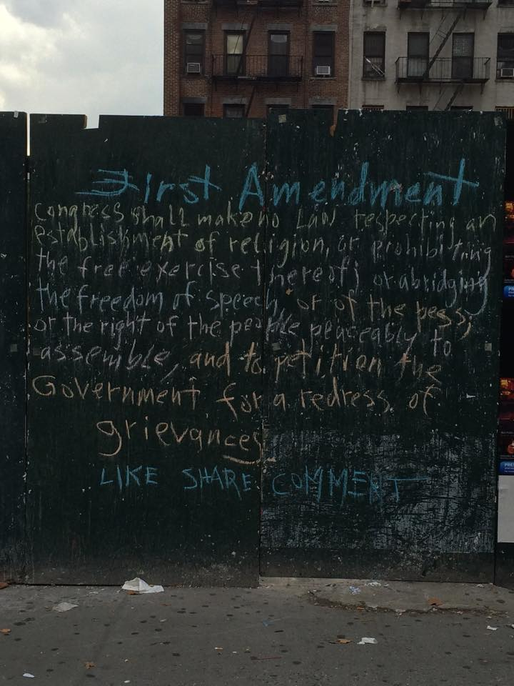 Chalk First Amendment